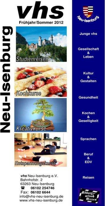 Junge vhs - Volkshochschule Neu-Isenburg