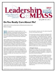 Do You Really Care About Me? - National Association of Elementary ...