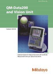 QM-Data200 and Vision Unit - Mitutoyo Scandinavia AB
