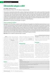 Chronická zácpa u dětí - Pediatrie pro praxi
