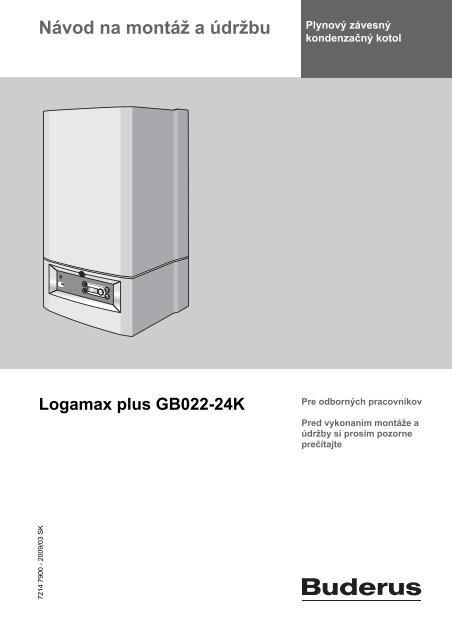 IM Logamax plus GB022-24(K) - CZ(DE) - Buderus