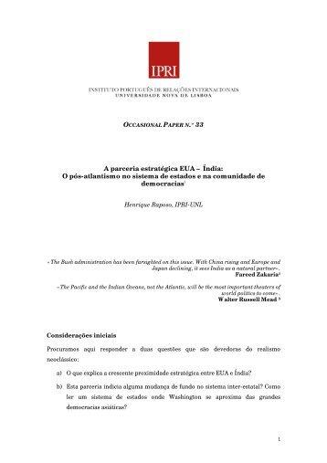 Ficheiro PDF - IPRI — Instituto Português de Relações Internacionais