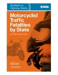 Motorcyclist Traffic Fatalities by State - Governors Highway Safety ...
