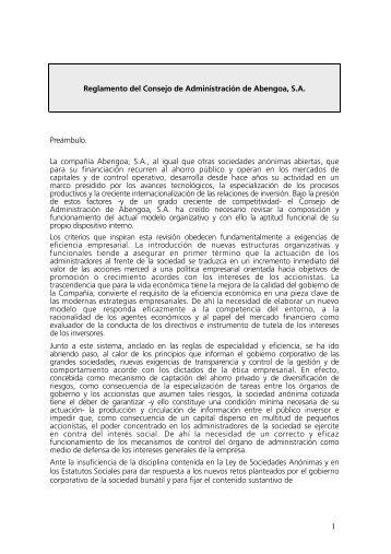 Consejo de Administración - Abengoa