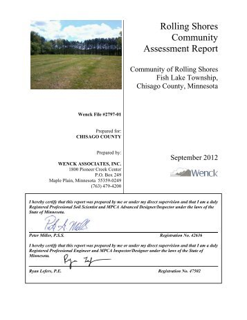 Community Assessment Report - Onsite Sewage Treatment ...
