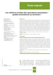 Étude originale - COST-Action Urban Agriculture Europe