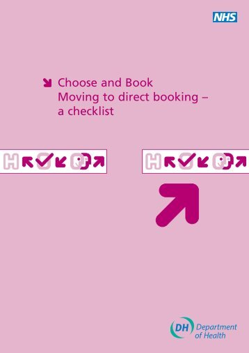 Choose and Book Moving to direct booking – a checklist