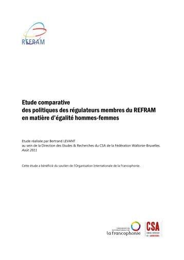 Etude comparative des politiques des membres du REFRAM en ...