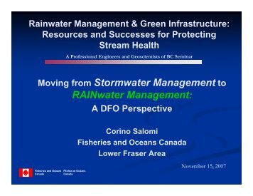 Moving from Stormwater Management to RAINwater ... - Waterbucket