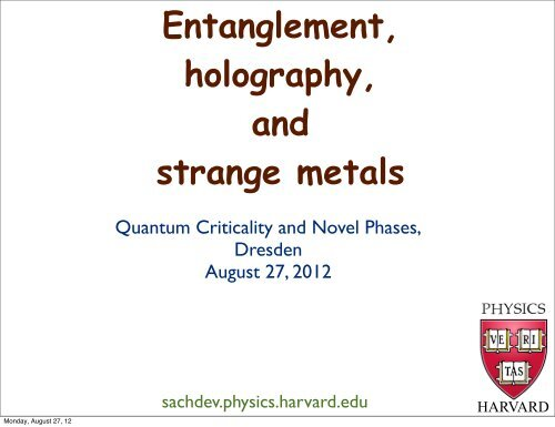 Entanglement, holography, and strange metals