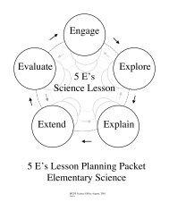 5_E's_Handout - Cobb Learning