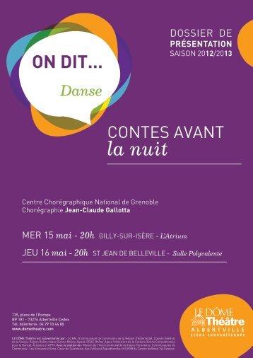 dossier de présentation - Dôme Théâtre