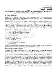 Raport despre monitorizarea procesului de implementare a Legii Nr ...