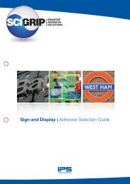 Sign and Display | Adhesive Selection Guide - DanLube