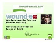 Prevalentie van wonden in Europa en België - HUBRUSSEL.net