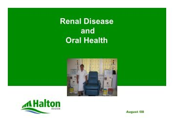 Renal Disease and Oral Health - GiiC