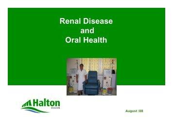 Renal Disease and Oral Health - GiiC