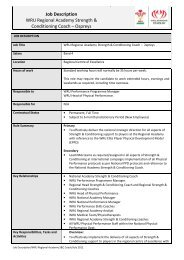 Job Description WRU Regional Academy Strength & Conditioning ...