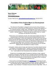 Foundation Hires Andrea Myers as New Development Director (July ...