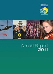 BSS Annual Report 2011 - Brighton Secondary School