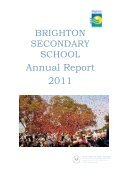 BSS Annual Report 2011 - Brighton Secondary School - Page 2