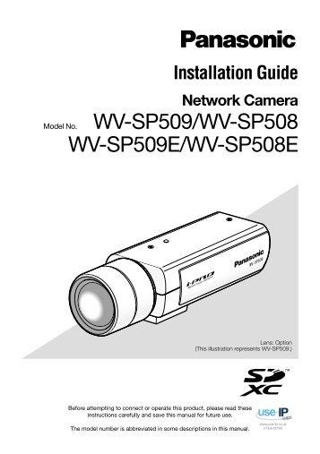 Panasonic WV-SP509 Installation Guide - Use-IP