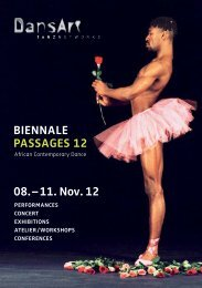 Biennale Passages 12 08. – 11. nov. 12 - DansArt Tanznetworks