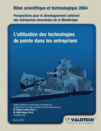 L'utilisation des technologies de pointe dans les entreprises - Valotech