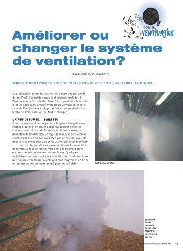 Améliorer ou changer le système de ventilation? - Fédération des ...