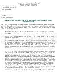 Restructuring of Salaries - University Grants Commission - Sri Lanka