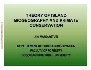 theory of island biogeography and primate conservation