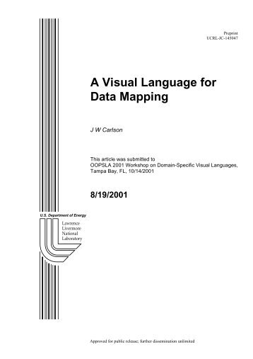 A Visual Language for Data Mapping - Institute For Software ...