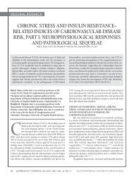 chronic stress and insulin resistance - Alternative Therapies In ...