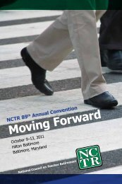 Program - National Council on Teacher Retirement