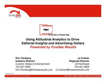 Using Attitudinal Analytics to Drive Editorial Insights and Advertising ...