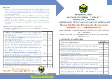 LICENCIA DE EDIFICACION DE AMPLIACION MODALIDAD C O D ...