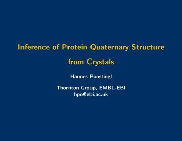 Inference of Protein Quaternary Structure from Crystals