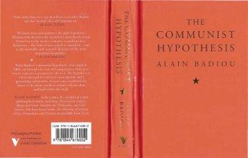 The Communist Hypothesis - SOK