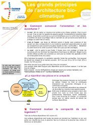 Conception bioclimatique - Espace INFO->ÉNERGIE du Rhône