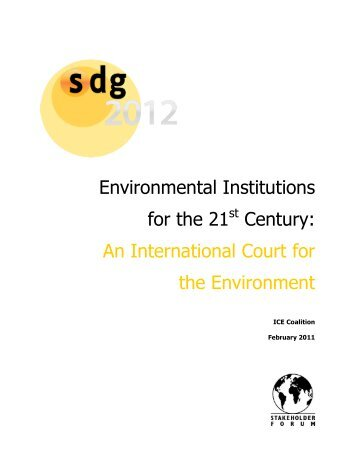 Environmental Institutions for the 21 Century: An International ...