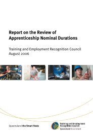 Report on the review of apprenticeship nominal durations - Training ...