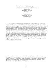 Risk Orientation and Trade Policy Preferences - Mailer Fsu - Florida ...