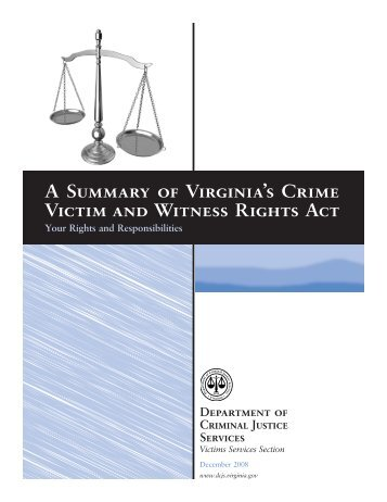 A summary of your rights under the fair credit reporting act a summary of virginias crime victim and witness rights act your publicscrutiny Gallery