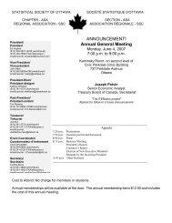 Annual General Meeting - Société statistique du Canada