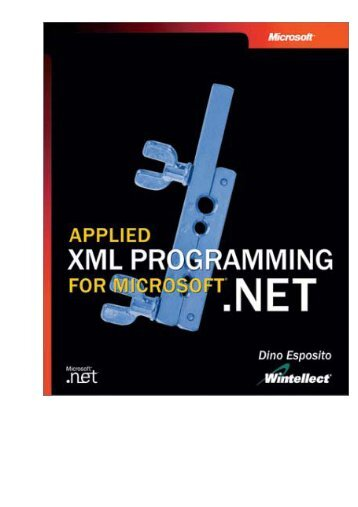 Applied XML Programming for Microsoft .NET.pdf - Csbdu.in