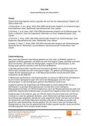 PISA 2009 Zusammenfassung und Interpretation ... - Projekt AZ