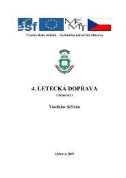 4. LETECKÁ DOPRAVA - E-learningové prvky pro podporu výuky ...