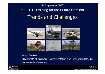 Trends and Challenges - Human Factors Integration Defence ...