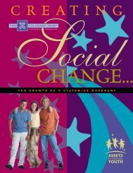 Creating Social Change: The Growth of a Statewide Movement