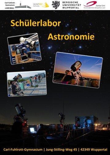 Das Schülerlabor Astronomie am Carl-Fuhlrott ... - NaT-Working